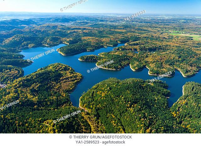France, Meurthe-et-Moselle 54, lake de la Pierre-Percee aerial view