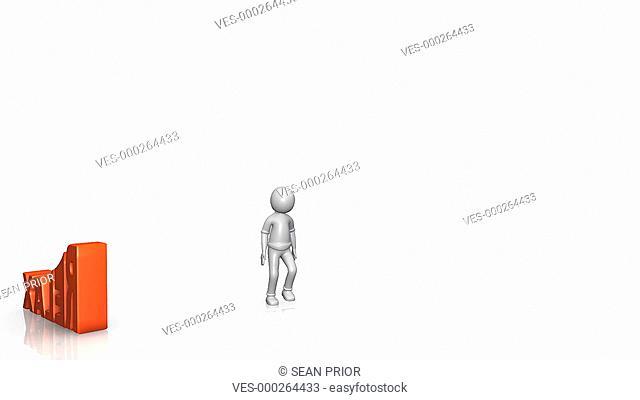 Animation einer Person die relaxt. Die Person legt sich auf das Wort RELAX