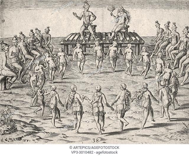 Theodor de Bry - Native American Wedding Ceremony