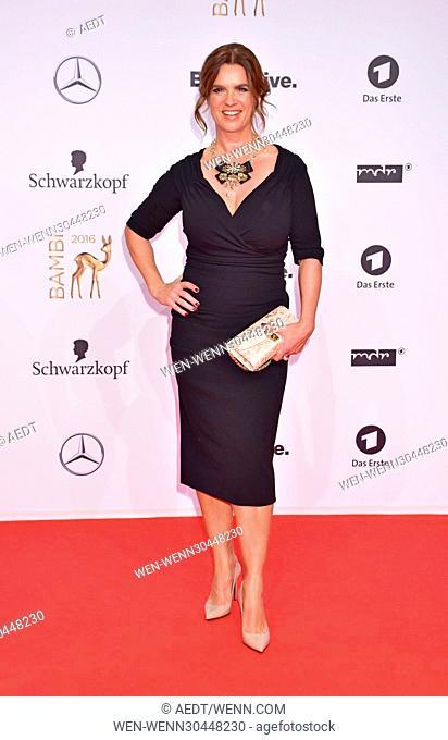 Katarina Witt at Bambi Award red carpet arrivals at Musical Theatre Potsdamer Platz. Berlin, Germany - 17.11.2016 Featuring: Katarina Witt Where: Berlin