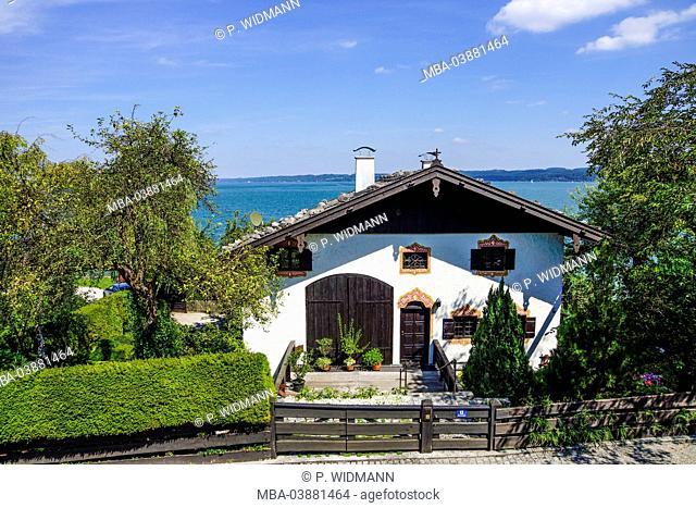 Seeshaupt at Lake Starnberg (Starnberger See), Bavaria, Upper Bavaria, Germany