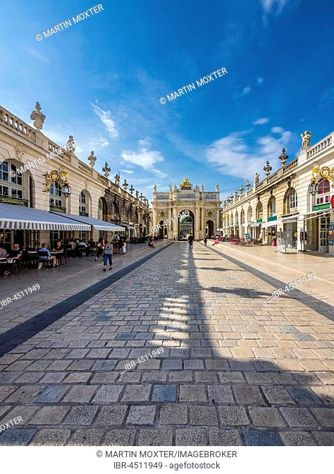 Triumph Arc Héré, Place Stanislas, Nancy, Meurthe-et-Moselle, Lorraine, France