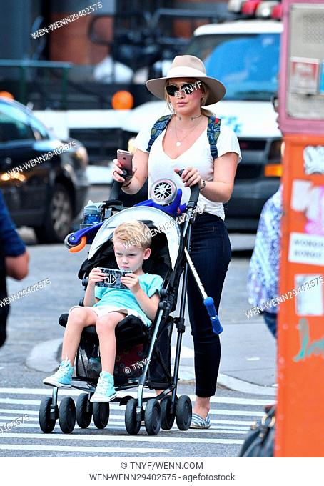 Hilary Duff steps out with her son Luca to stroll around the streets of New York City Featuring: Hilary Duff, Luca Cruz Comrie Where: New York City, New York