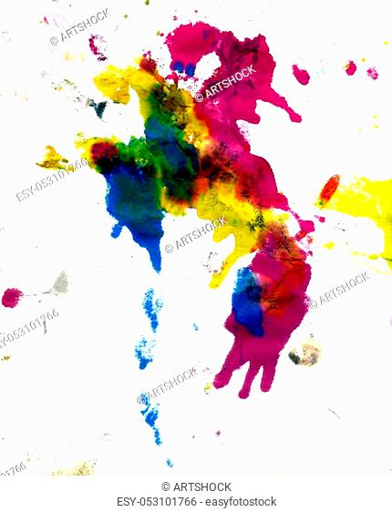 Grunge background with paint dripping of different colors