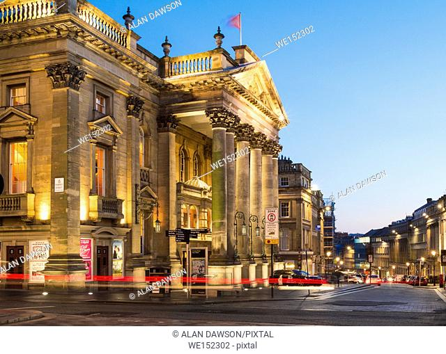 Theatre Royal on Grey Street in Newcastle upon Tyne, England, United Kingdom. Europe,