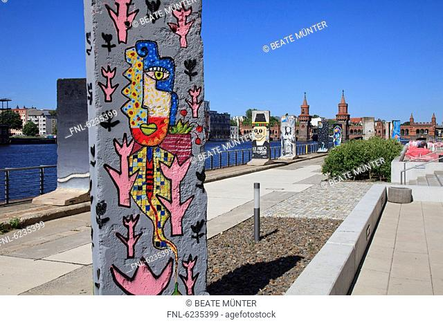 Remnants of the Berlin Wall at the bank of River Spree, Germany