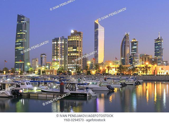 Kuwait City at Dusk, Kuwait