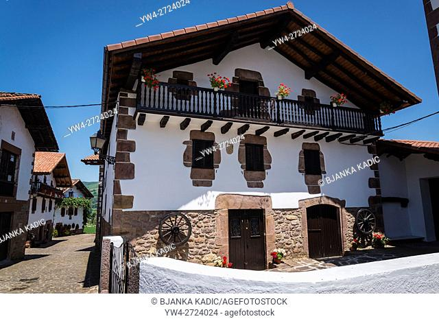 Erratzu village, Navarre, Northern Spain
