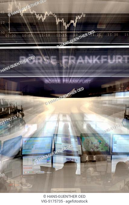 11.02.2015, GER, Frankfurt, the DAX curve on the trading floor of the Frankfurt Stock Exchange - Frankfurt, Hesse, Germany, 11/02/2015