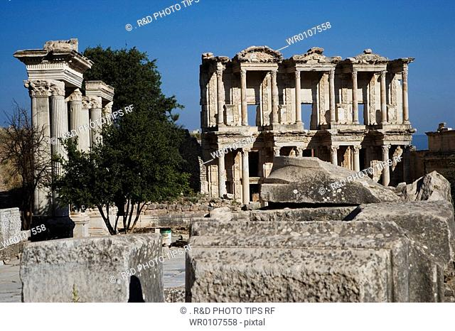 Turkey, Kusadasi, Ephesus, the Library of Celsus