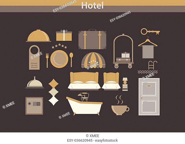 Hotel icon vector luxury