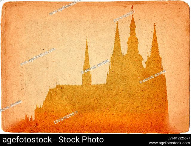 Prague castle in old style