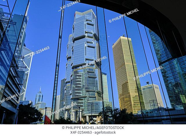 Chine, Hong Kong, Hong Kong Island, les tours Lippo Center / China, Hong-Kong, Hong Kong Island, Lippo center towers