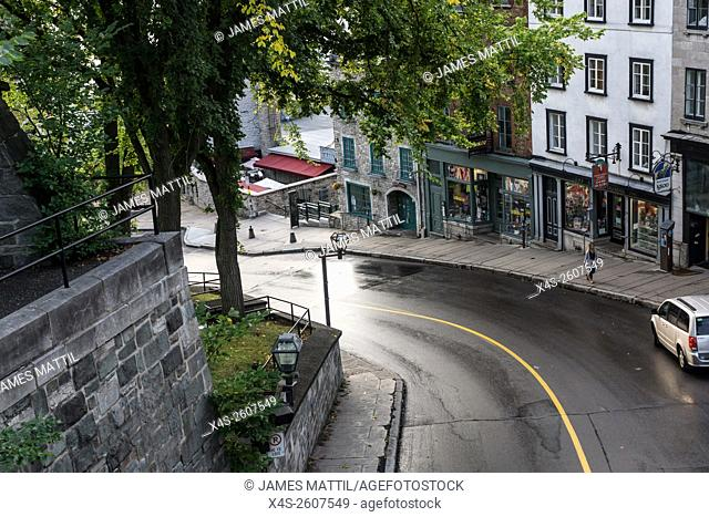 The Old City of Quebec has an upper and lower section, the lower area is the old port, located outside the fortress walls