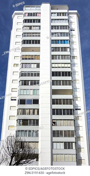 high-rise residential building, quarteira, algarve, portugal