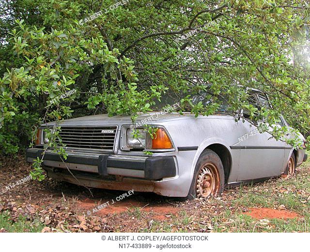 Abandoned Mazda auto