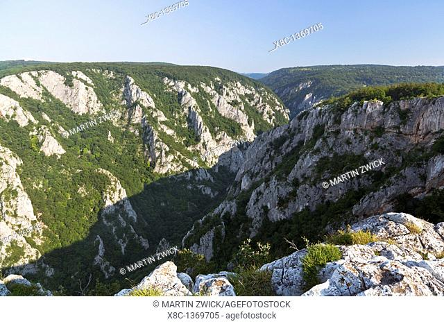 The gorge of Zadiel in the slovak karst  The gorge was created by the collapsing of several caves  The National Park Slovak Karst is protecting the Karst region...