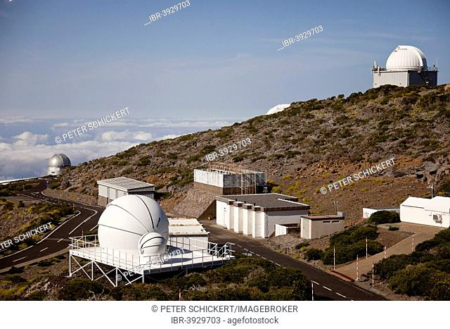 The Roque-de-los Muchachos Observatory on the slope of the Roque de los Muchachos, La Palma, Canary Islands, Spain