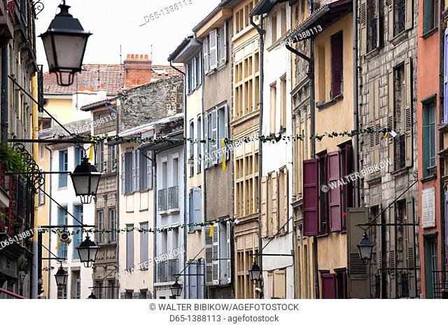 France, Haute-Loire Department, Auvergne Region, Le Puy-en-Velay, town buildings