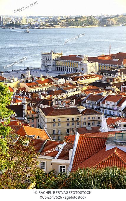 View from Saint Jorge castle, Lisbon, Portugal