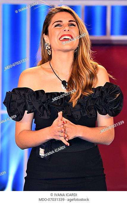 Ivana Icardi during the entry of the competitors in the first episode of the broadcast Grande Fratello 16 to the studios of Cinecitta'
