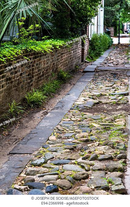 Rock pavers in a driveway in Charleston South Carolina