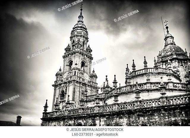 Cathedral. Santiago de Compostela. La Coruña province, Spain