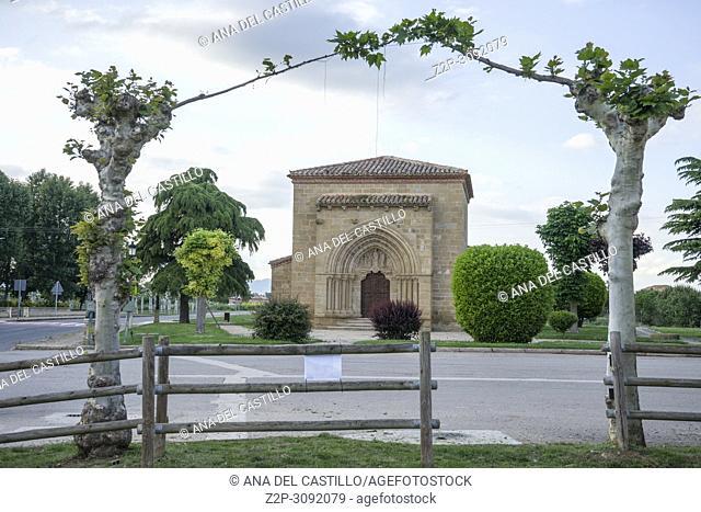 Our Lady of La Antigua Church in Banares . La Rioja. Spain
