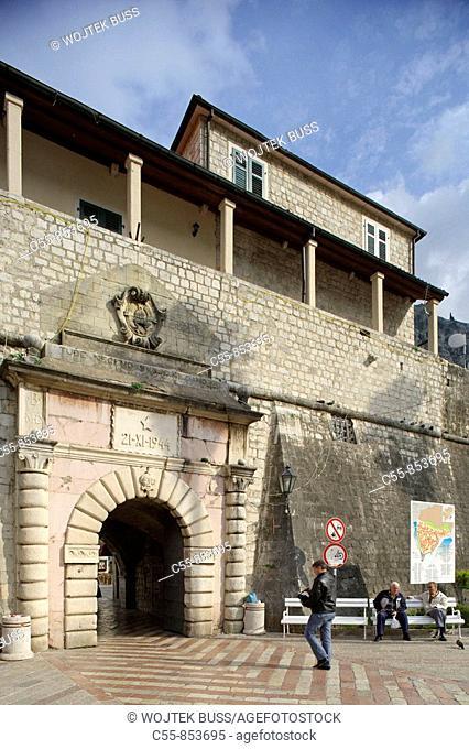 Kotor, old town, Sea Gate, West Gate, 1555, Montenegro