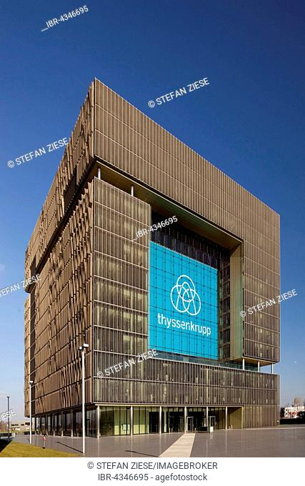 Main building Q1 the corporate headquarters of ThyssenKrupp, Essen, Ruhr district, North Rhine-Westphalia, Germany