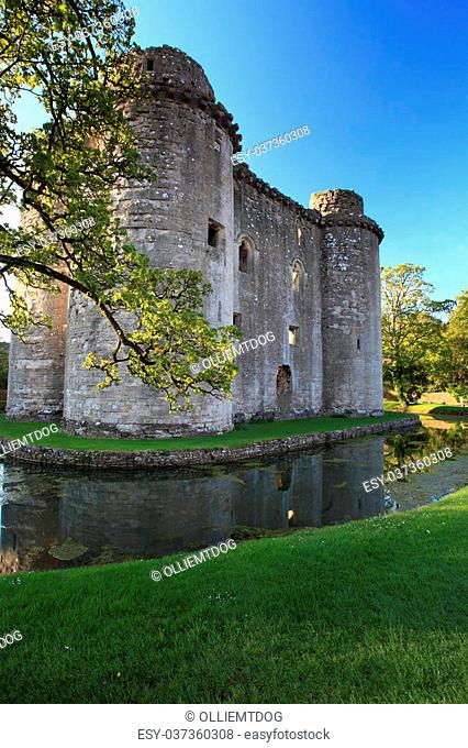 Medieval 13th Century Nunney Castle in Somerset England