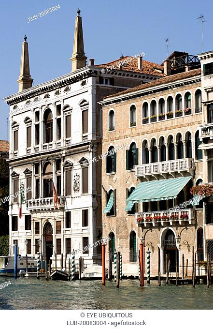 Palazzo Papadopoli (on the left) on the Grand Canal, formerly known as Coccina-Tiepolo built in 1560