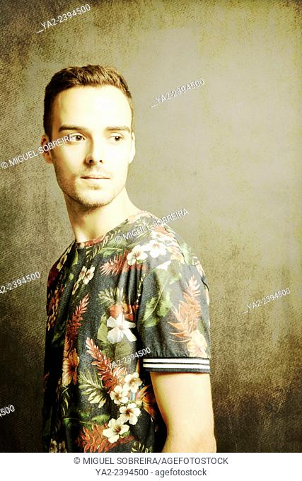 Man in Tropical Shirt