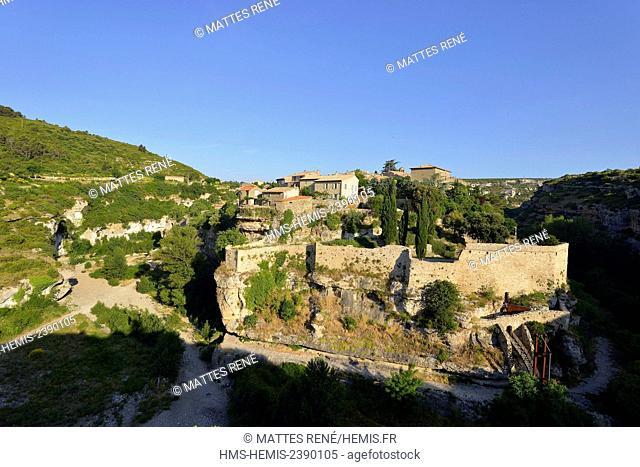 France, Herault, Pays Cathare, Minerve, labelled Les Plus Beaux Villages de France (The Most Beautiful Villages of France)