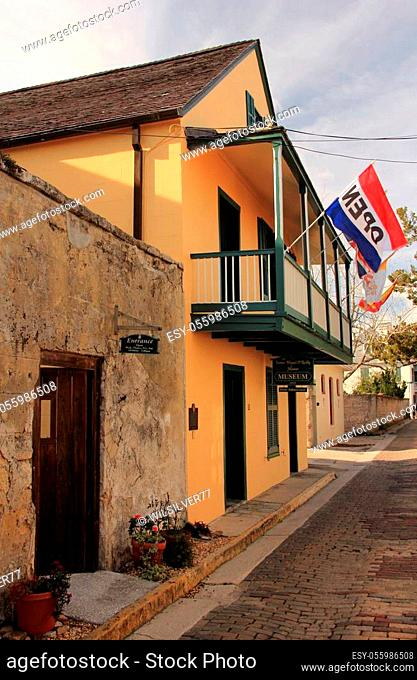 A popular stop for tourists in St. Augustine, Florida, is the old Father Miguel O? Reilly House, which contains walls dating to the year 1691