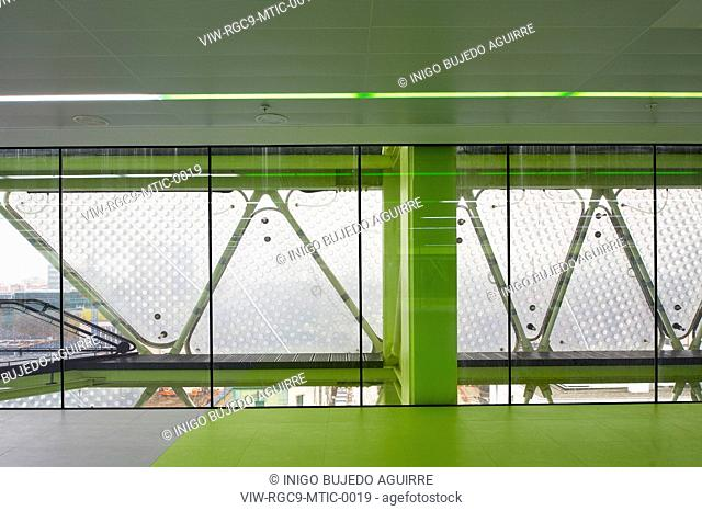Media-TIC Enric Ruiz-Geli/Cloud 9 Barcelona 2009 Spain Interior view of office floor and outer EFTE Fabric frame