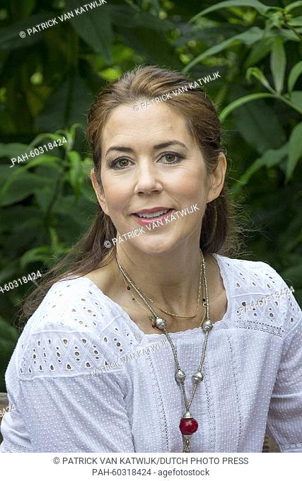 Danish Crown Princess Mary during a photo session during their summer holidays at Grasten Slot, Denmark, 25 July 2015. Photo: Patrick van Katwijk / NETHERLANDS...