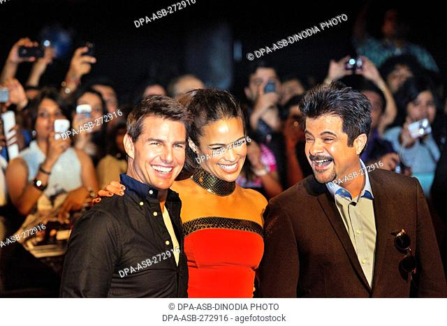 Hollywood actor Tom Cruise, Paula Patton Indian Anil Kapoor, Mumbai, Maharashtra, India, Asia