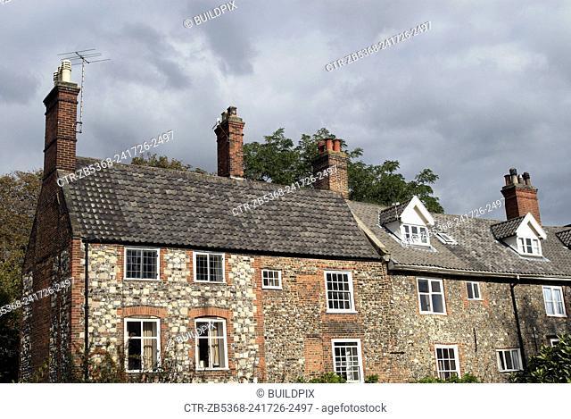Stone built cottages, Norwich, UK