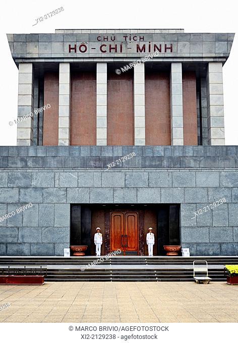 Sentries at the Ho Chi Minh mausoleum. Hanoi, Vietnam