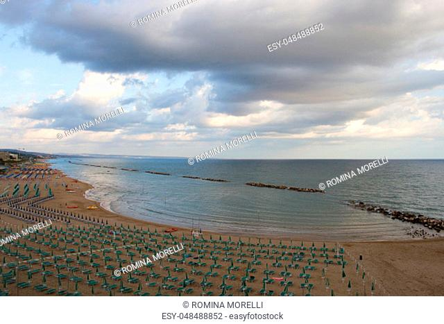 Lidos at the sea of Termoli