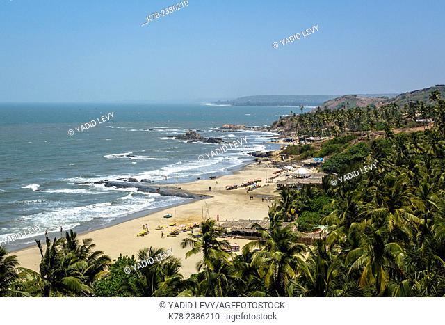 View over Vagator beach, Goa, India