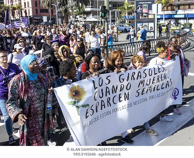 Las Palmas, Gran Canaria, Canary Islands, Spain. 25th November, 2018. International Day for the Elimination of Violence against women
