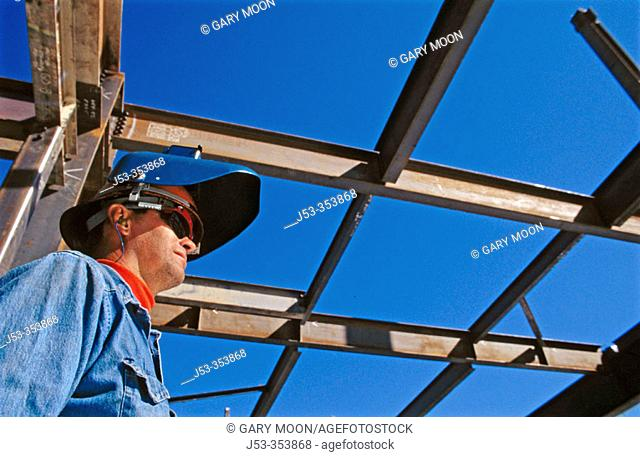 Ironworker (welder). Sacramento, California. USA