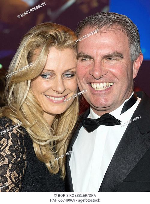 Chairman of the board of Lufthansa Carsten Spohr (R) and his wife Vivian attend the 45th 'Ball des Sports' (sports ball) event in Wiesbaden, Germany