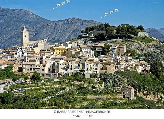 City view of Polop, Costa Blanca, Spain