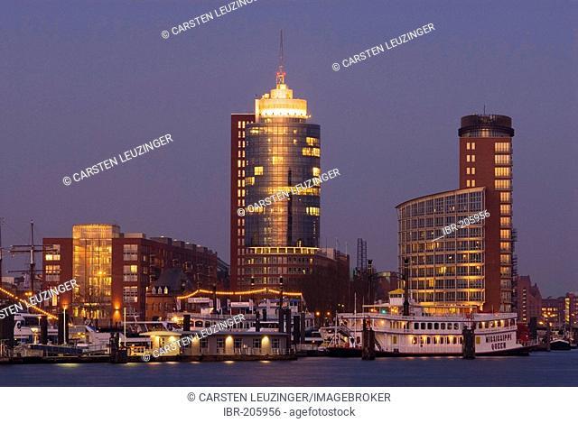 Hanseatic Trade Center at Kehrwiederspitze in Hamburg Hafencity, Hamburg, Germany