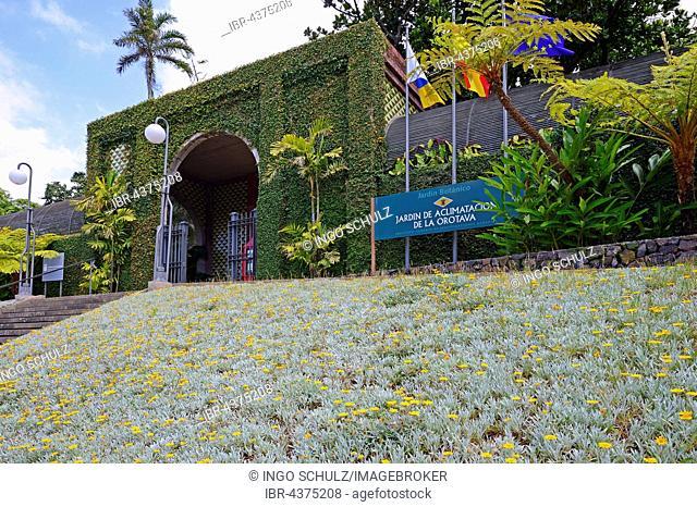 Entrance, Jardín de aclimatación de la Orotava, Botanico, Botanical Garden Tenerife, Canary Islands, Spain