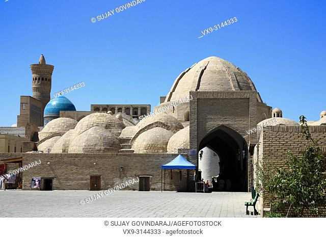 Bukhara, Uzbekistan - August 27, 2016: Toki Zargaron trading dome, a largest and the first of its kind in Bukhara, an interesting place that explains the...