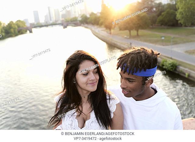 Young couple. Frankfurt am Main, Germany